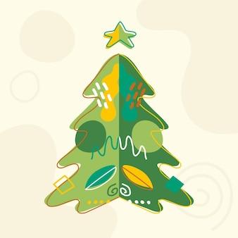 Conceito abstrato de árvore de natal