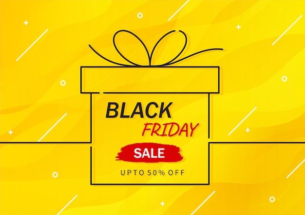 Conceito abstrato de banner de promoção de venda sexta-feira negra