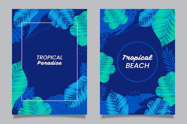 Conceito abstrato de cartões tropicais