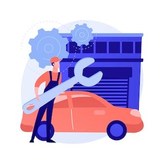 Conceito abstrato de detalhamento de automóveis
