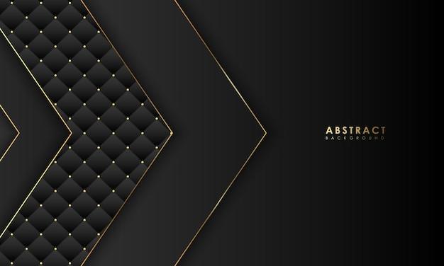 Conceito abstrato de fundo de banner preto e dourado