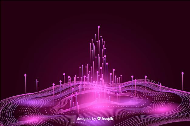 Conceito abstrato de grande volume de dados