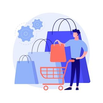 Conceito abstrato de hábitos de compra