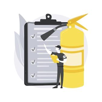 Conceito abstrato de inspeção de incêndio