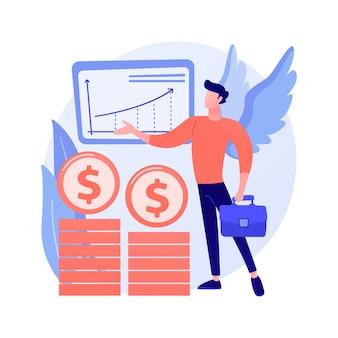 Conceito abstrato de investidor anjo