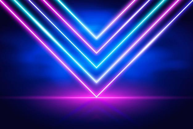 Conceito abstrato de luz de néon