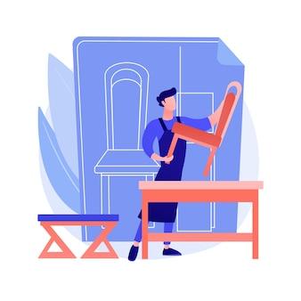 Conceito abstrato de móveis personalizados