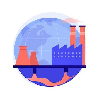 Conceito abstrato de poluição de águas subterrâneas