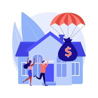 Conceito abstrato de programa de alívio de hipotecas