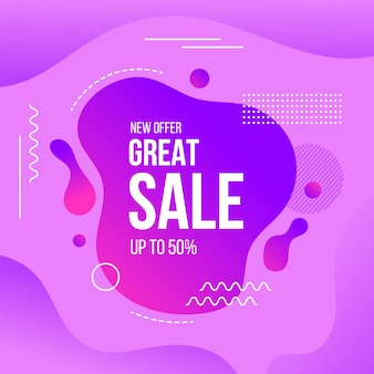 Conceito abstrato de promoção de vendas