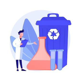 Conceito abstrato de reciclagem química