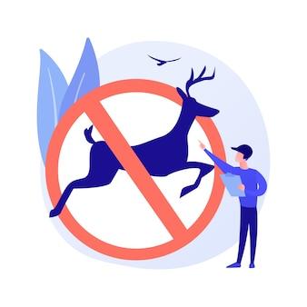 Conceito abstrato de regulamentos de caça