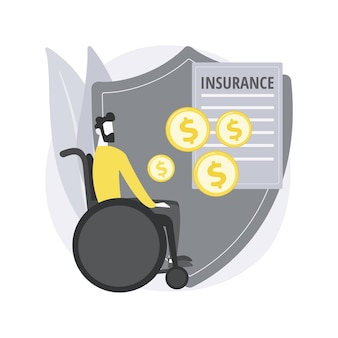 Conceito abstrato de seguro de invalidez