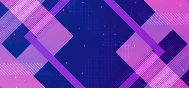 Conceito abstrato geométrico com azul e roxo