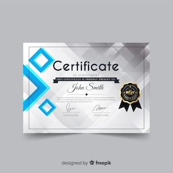 Conceito abstrato modelo de certificado