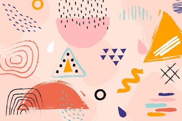 Conceito abstrato pastel