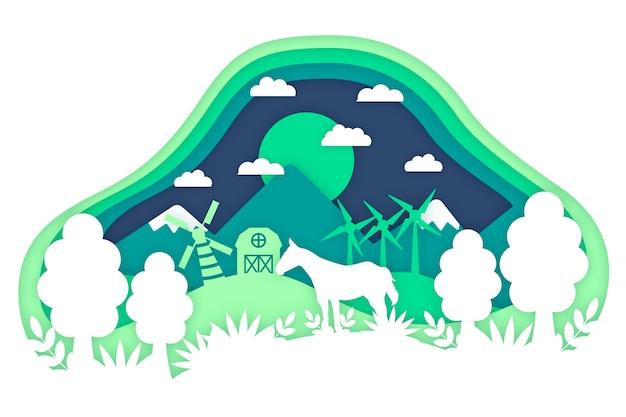 Conceito ambiental do estilo de papel