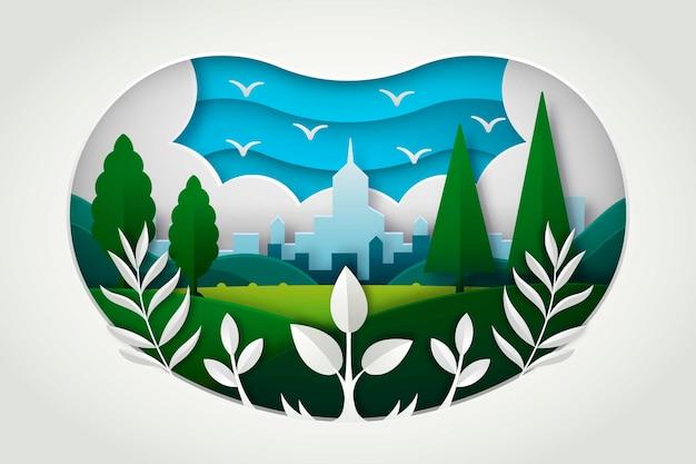 Conceito ambiental em estilo de jornal