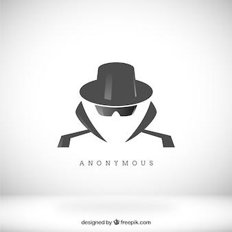 Conceito anônimo moderno com design plano