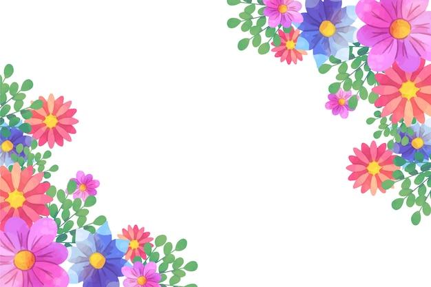 Conceito artístico floral fundo aquarela