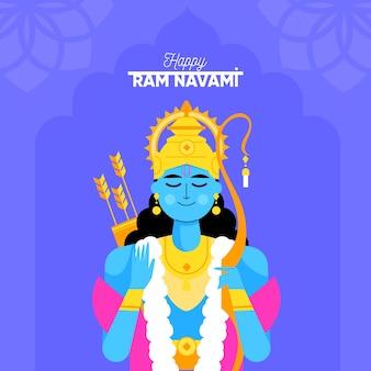 Conceito artístico para celebração do dia de ram navami