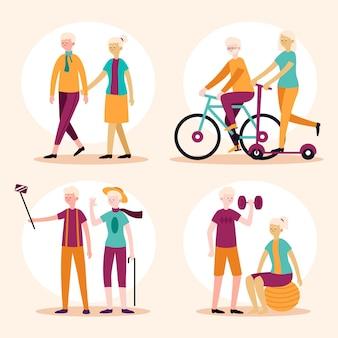 Conceito ativo de pessoas idosas