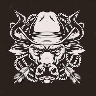 Conceito autêntico do oeste selvagem