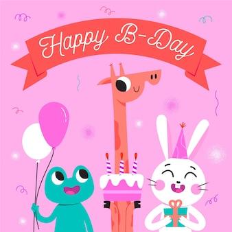 Conceito bonito feliz aniversário