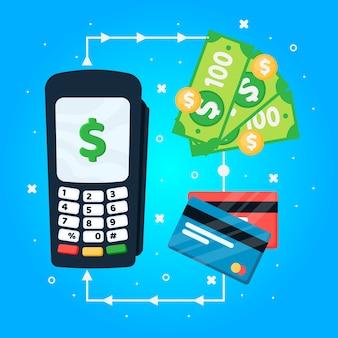 Conceito cashabck com cartões de crédito