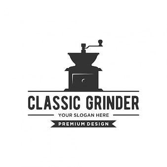 Conceito clássico de logotipo grinder