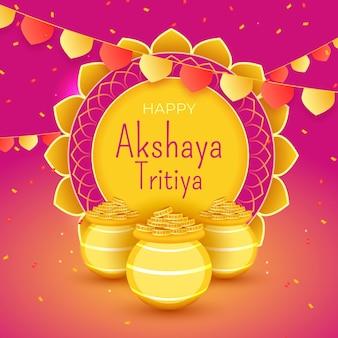 Conceito colorido de akshaya tritiya