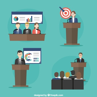 Conceito conferência de negócios