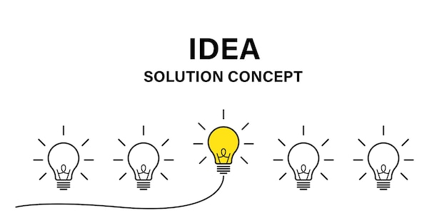 Conceito criativo da ideia. conceito de negócio da ideia de lâmpada. energia de potência. vetor de ícone de lâmpada do cérebro.