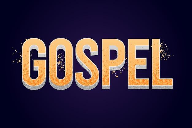 Conceito criativo da palavra gospel