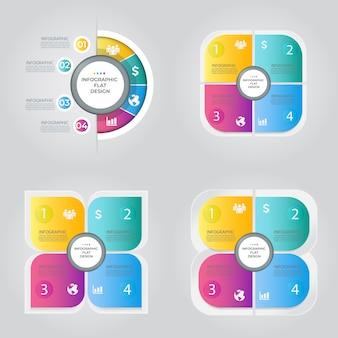 Conceito criativo de apresentação para infográfico