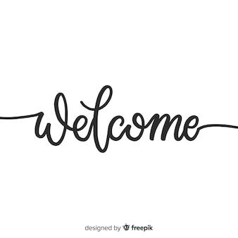 Conceito criativo de boas-vindas letras