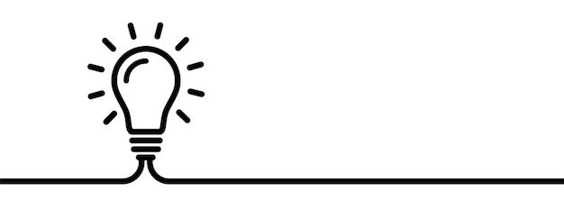 Conceito criativo de lâmpada. símbolo de ideia.