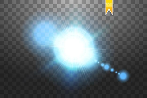 Conceito criativo de rajadas de estrelas com efeito de luz brilhante