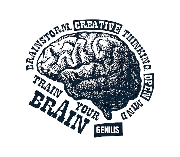 Conceito criativo do cérebro humano