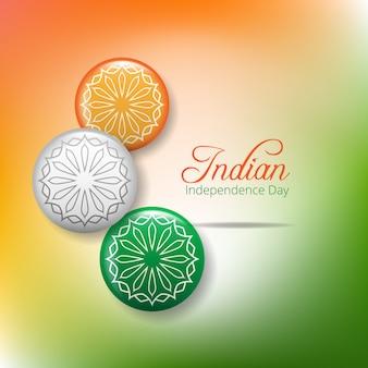 Conceito criativo do dia da independência indiana com roda de ashoka