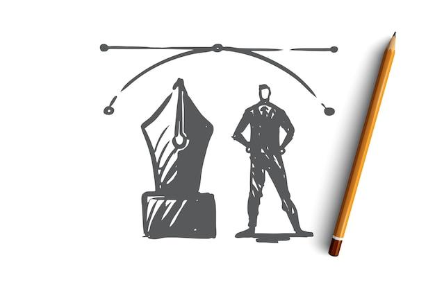 Conceito criativo gráfico de designer de vetor