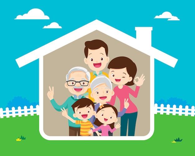 Conceito da casa da família feliz
