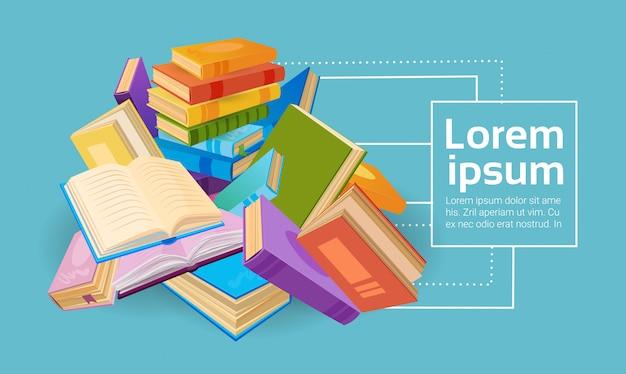 Conceito da educação escolar da pilha de livros