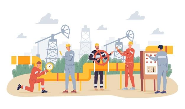 Conceito da indústria de petróleo e gás.