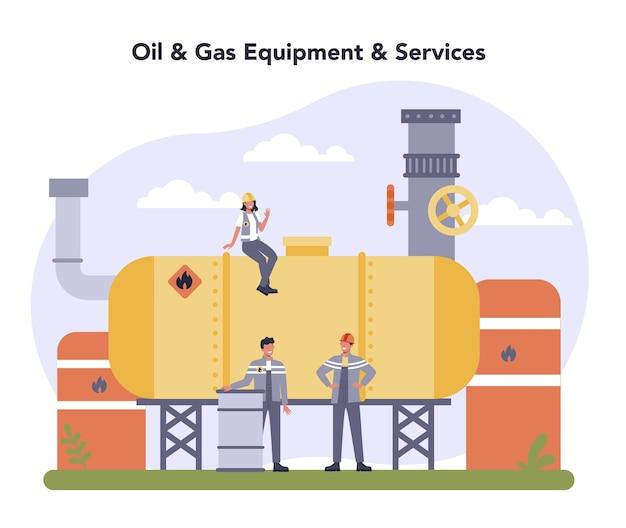 Conceito da indústria de petróleo e gás