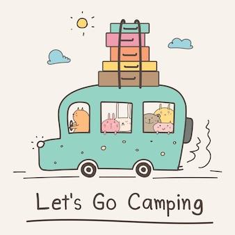 Conceito de acampamento