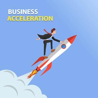 Conceito de aceleração de negócios