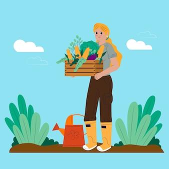 Conceito de agricultura de vegetais orgânicos