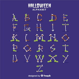 Conceito de alfabeto de halloween