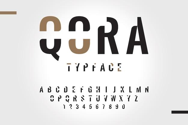 Conceito de alfabeto mínimo de estilo abstrato